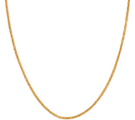 """As Is"" Veronese 18K Clad 24"" Adjust able Snake Chain Necklace"