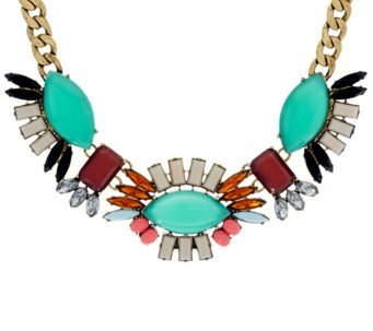 LOGO Links by Lori Goldstein Fanned Bib Necklace - J330177