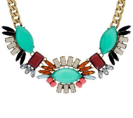 LOGO Links by Lori Goldstein Fanned Bib Necklace