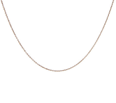 "18"" Rolo Chocolate Gold Necklace, 14K"