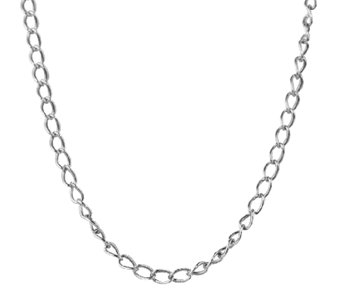 "Sterling 18"" Antiqued Cable Chain Necklace, by American West - J338977"