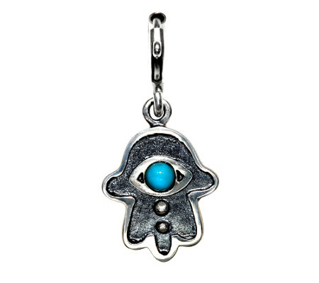 Hagit Sterling Hamsa Turquoise Cabocho n Charm