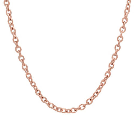 "Stainless Steel 18"" Cable Link Necklace"