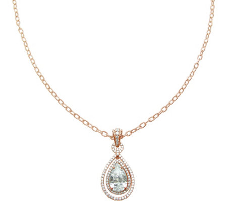 Judith Ripka 14K Rose Gold-Clad Pendant Necklace