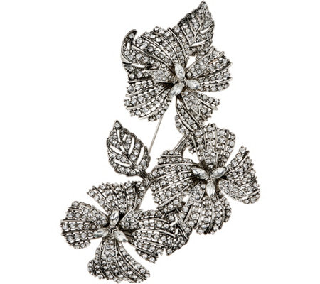 Joan Rivers Red Carpet Pave' Floral Cluster Brooch