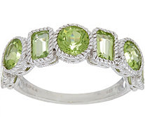 Judith Ripka Sterling Silver Seven Stone 2.40 cttw Peridot Ring - J349977