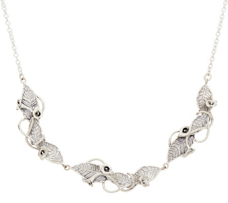 Or Paz Sterling Calla Lily Link Necklace 23.0g