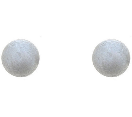 Sterling Silver 5mm Satin Finish Ball Stud Earring