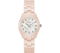Caravelle New York Women's Pale Pink Ceramic Watch - J375977
