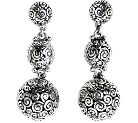 Novica Artisan Crafted Sterling Emanation DropEarrings