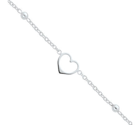 Sterling Heart Anklet