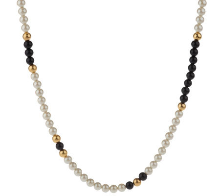 "Linea by Louis Dell'Olio 51"" Simulated Pearl & Bead Necklace"
