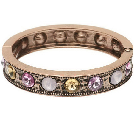 Wildlife by Heidi Klum Crystal Rivoli Bangle Bracelet