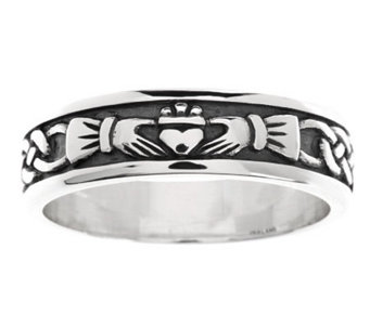 Solvar Sterling Silver Woman's Claddagh Ring - J275978