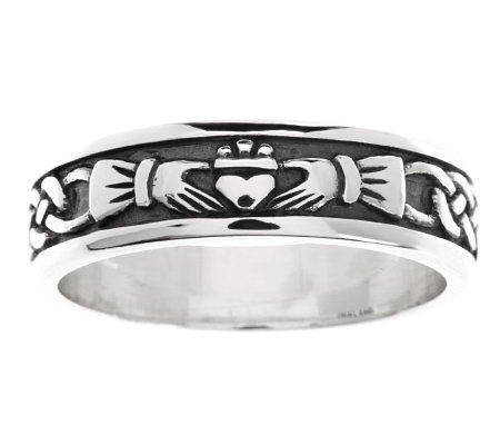 Solvar Sterling Silver Woman's Claddagh Ring