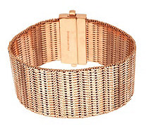 Bronze Average Bold Diamond Cut Wide Riccio Bracelet by Bronzo Italia - J282378