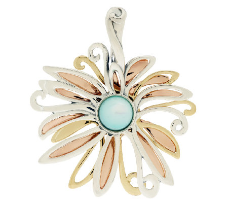 Carolyn Pollack Mother-of-Pearl Mixed Metal Flower Enhancer