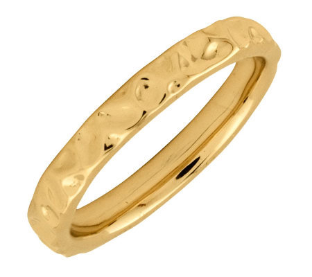 Simply Stacks Sterling 18KYellowGold-Plated 3.25mm TextureRing