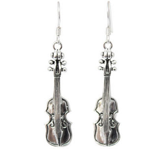 "Novica Artisan Crafted Sterling ""Violin"" DangleEarrings - J308278"