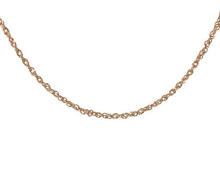 "30"" Diamond Cut Singapore Necklace, 14K Gold2.60g"