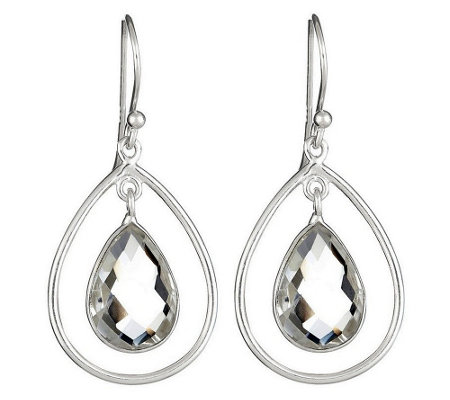 Sterling Silver Quartz Dangle Earrings