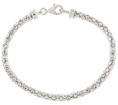 Silver Style Sterling Diamond Cut Bracelet
