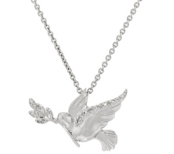 Diamond Dove Necklace, Sterling, by Affinity - J318478
