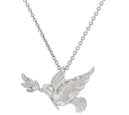 Diamond Dove Necklace, Sterling, by Affinity