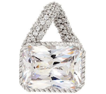 Judith Ripka Sterling 11.00 cttw Diamonique Pendant