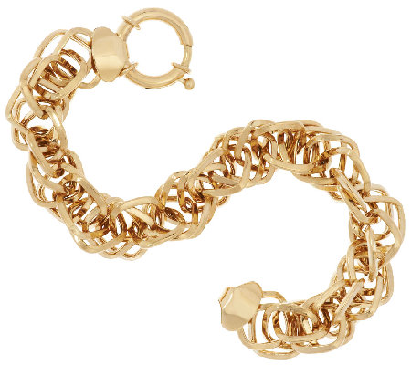 """As Is"" 14K Gold 6-3/4"" Interlocking Dimensional Bracelet, 8.4g"