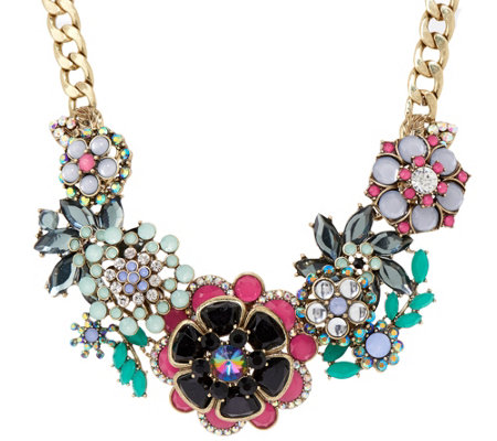 """As Is"" Joan Rivers Jeweled Bouquet 18"" Necklace with 3"" Extender"
