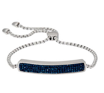 Stainless Steel Crystal Polished Adjustable Bracelet - J331278