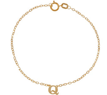 """As Is"" Vicenza Gold Polished Initial Bracelet 14K Gold - J333578"