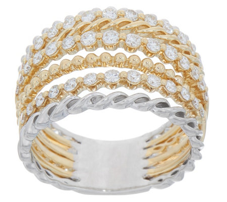 Multi-Band Diamond Ring, 14K Gold, 3/4 cttw, by Affinity