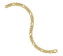 Italian Gold 7.25mm Beveled Curb Bracelet 14K,10.0g - J381478
