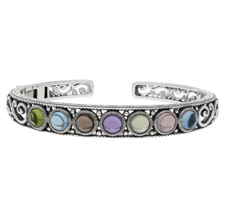 Elyse Ryan Sterling Multi-Gemstone Cuff