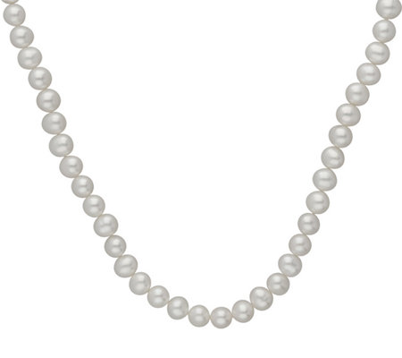 "Judith Ripka Sterling 18"" Cultured Pearl & Diamonique Necklace"