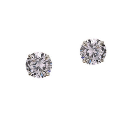 Diamonique 1.50 ct tw Round Stud Earrings, 14KGold