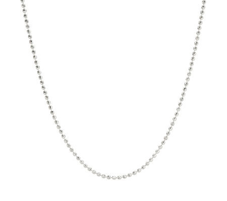 "UltraFine Silver 16"" Diamond Cut Bead Nacklace"