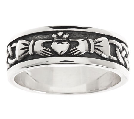 solvar sterling silver s claddagh ring page 1 qvc