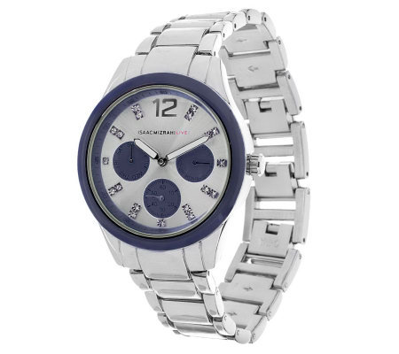 Isaac Mizrahi Live! Colorful Chronograph Bracelet Watch