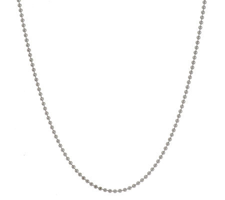 "Judith Ripka Sterling 18"" 2.0mm Shot Bead Chain Necklace"