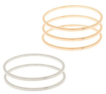 """As Is"" Bronzo Italia Average Set of 5 Colors of Bronze Bangles"