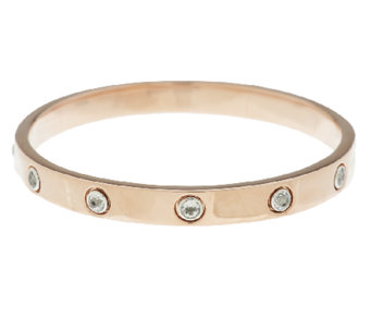 Bronze Gemstone Station Round Bangle by Bronzo Italia - J289679