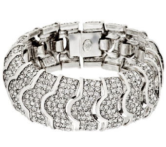 Joan Rivers Pave' Crystal Heirloom Bracelet - J292379