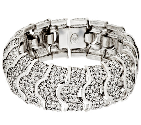 Joan Rivers Pave' Crystal Heirloom Bracelet