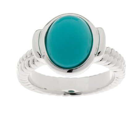 Sleeping Beauty Turquoise Rope Design Sterling Ring