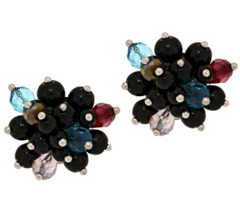 Joan Rivers Clip or Pierced Starlet Style Cluster Earrings - J294779
