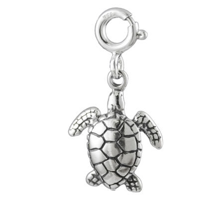 Sterling Sea Turtle Charm