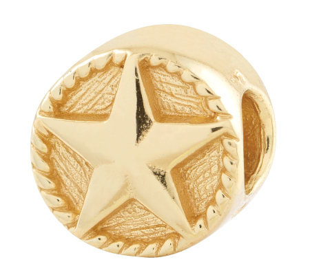Prerogatives Gold-Plated Sterling Star Bead